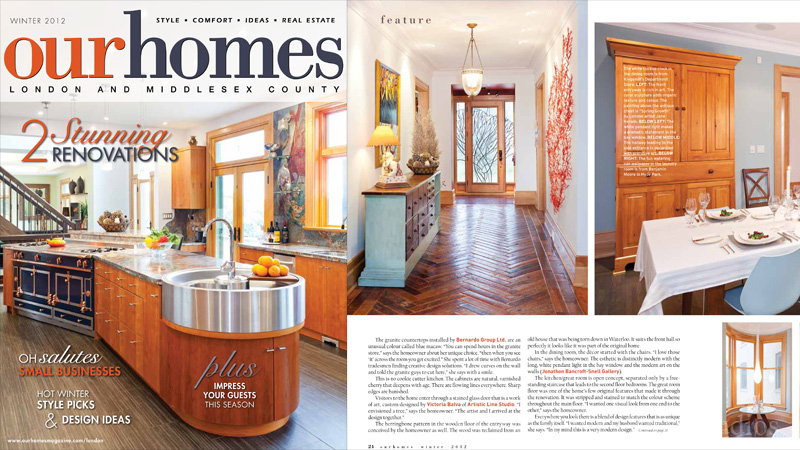 Stained, fused and leaded glass project Jay's Tree has been featured in Our Homes Magazine