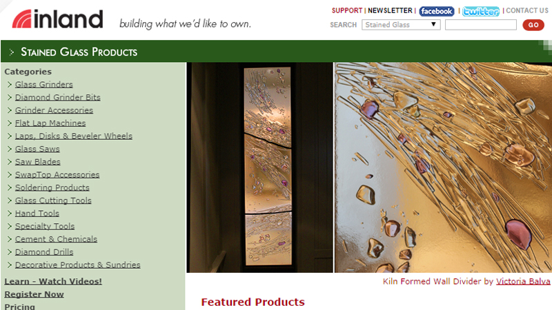 Featured leaded glass artist of the month by Inland with kiln formed glass