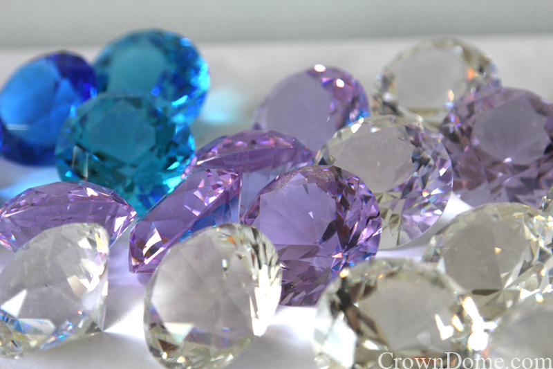 lilac crystal jewels for stained and leaded glass dome