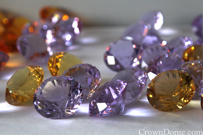 crystal jewels for stained and leaded glass dome