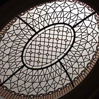 leaded glass eleptical dome