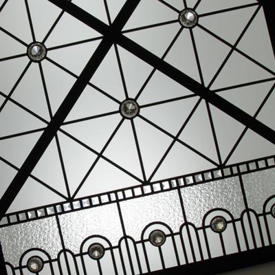 Crossroads - Minimalistic leaded glass skylight