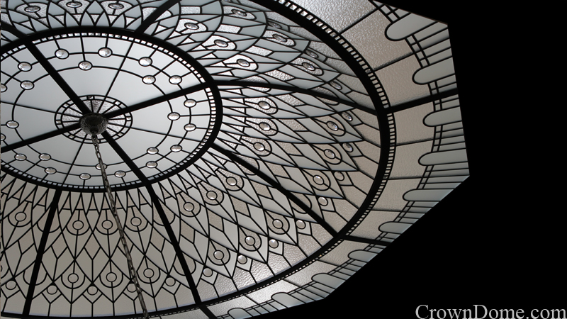 Leaded glass domed celing octagon
