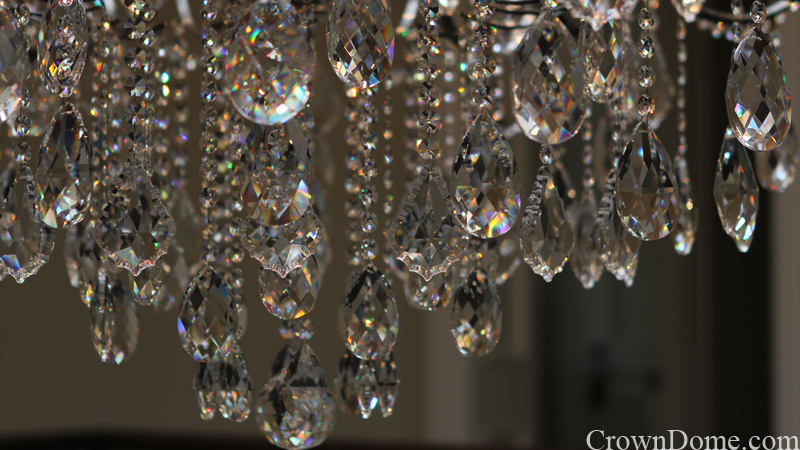 clear jewels and crystal chandelier