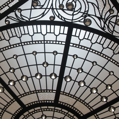Cassiopeia - raised leaded glass skylight