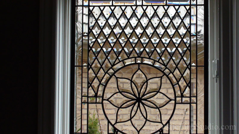 Stained And Leaded Glass Window Quot Linda Quot For A Family Room